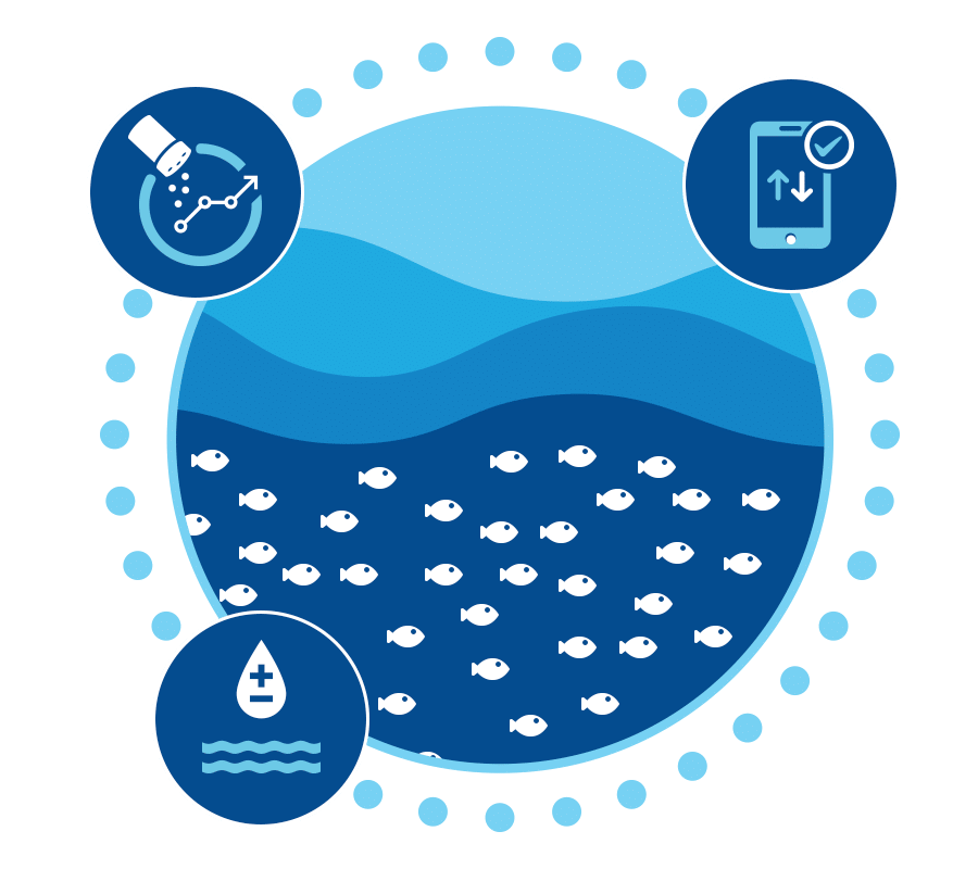Improved hatchery management using advanced fish farming software